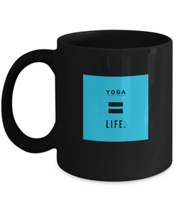 Life is Yoga - Black Design Coffee Mug - Uncle Seal