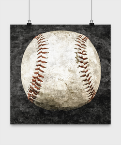 Baseball Poster - Vintage Baseball - Oil Paint Style design - Uncle Seal