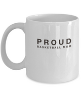 White Coffee Mug- Proud Basketball Mom - Uncle Seal