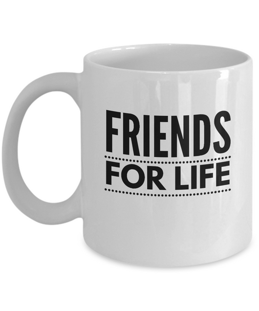 Friends for Life - White Coffee Mug - Uncle Seal