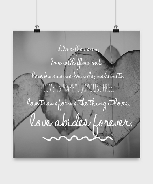Love Abides Forever Design - Poster wall - Uncle Seal