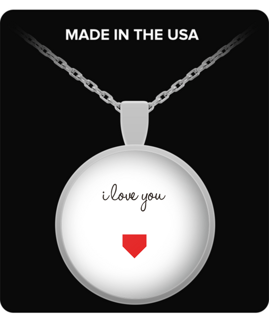 I love you design with heart - Necklace - Uncle Seal