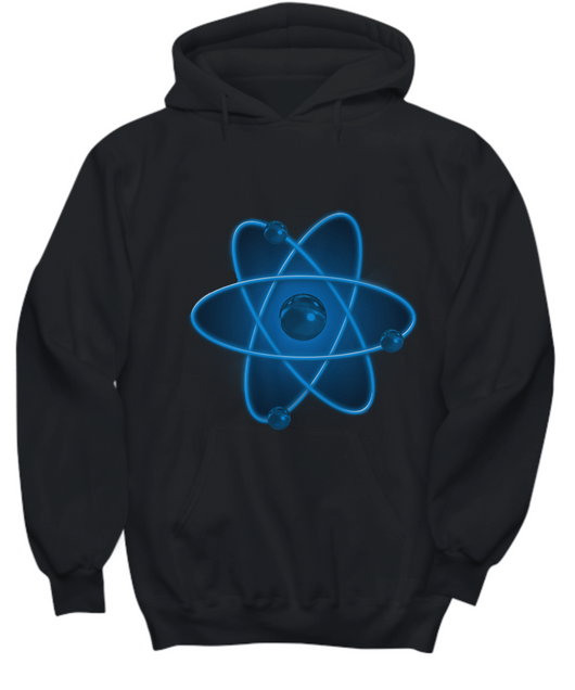 Nuclear Atom Design - Black Hoodie Blue - Uncle Seal