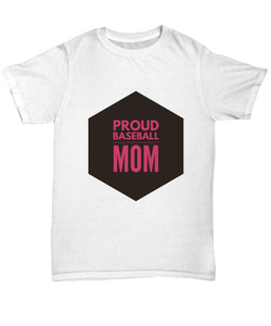Proud Baseball Mom - White Woman T shirt - Uncle Seal
