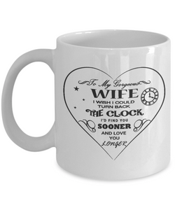 Husband And Wife Coffee Mug - White 11oz - Turn Back the Clock - Uncle Seal