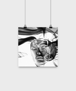 Abstract Woman Design - White poster - Uncle Seal