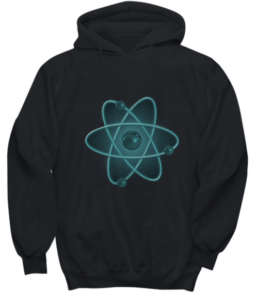 Nuclear Atom Design - Black Hoodie - Uncle Seal