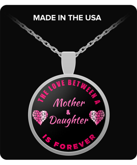 Daughter Necklace From Mother - Love Forever - Round Pendant Gift - Mommy's Girl - Uncle Seal
