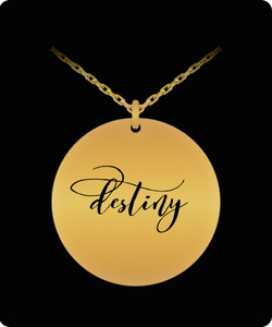 Destiny Pendant - Name Necklace - Personalized Charm Gift - Gold plated Plated/Stainless Steel - Laser Engraved - Lovely Present - Uncle Seal
