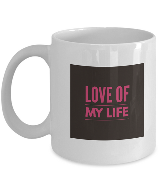 Love of my life Coffee Mug - White Square - Uncle Seal