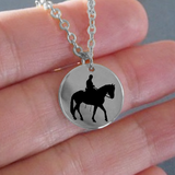 Galloping Horse Necklace - Gold plated Plated Round Pendant - Cute Charm  For Horse Lovers - Uncle Seal