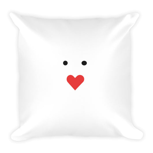 Square Pillow - Cute Love Smiley - Uncle Seal