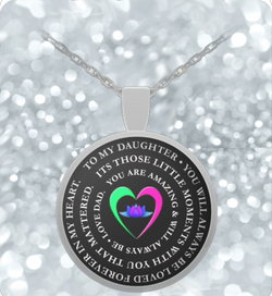Daughter Father Necklace - Inspirational Love - Round Pendant- - Uncle Seal