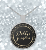 Father Daughter Necklace Gift - Daddy's Princess- - Uncle Seal