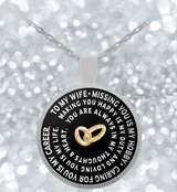 Husband Wife Necklace - Round Pendant - Beautiful & Romantic Gift- - Uncle Seal
