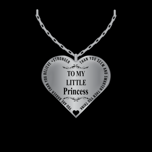 Father to daughter jewelry heart necklace silvergold charm father to daughter jewelry heart necklace silvergold charm pendant from dad laser aloadofball Image collections