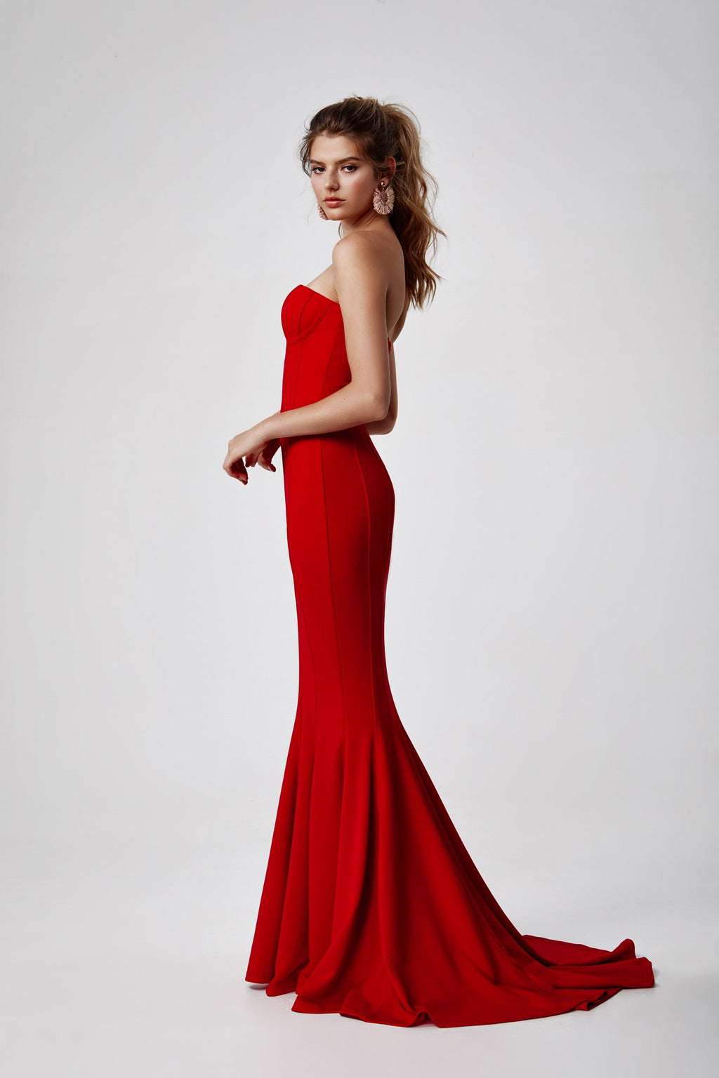 "Lexi ""Sahar"" Gown in Red"