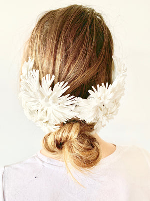 "Murley & Co ""Dahlia"" Ponytail Cage White"