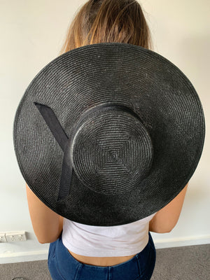 "Murley and Co ""The Wide Brim Boater"" in Black"