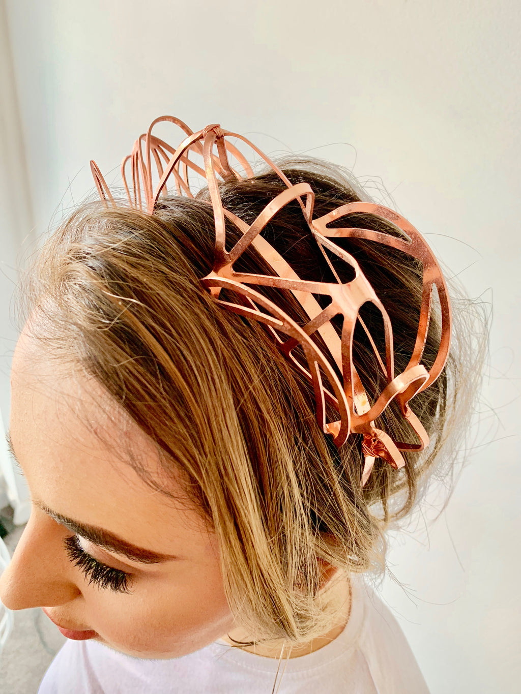 Natalie Bikicki Solaris Headband Rose Gold