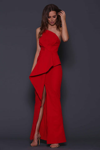 "By Johnny ""Strapless Flare"" Gown"