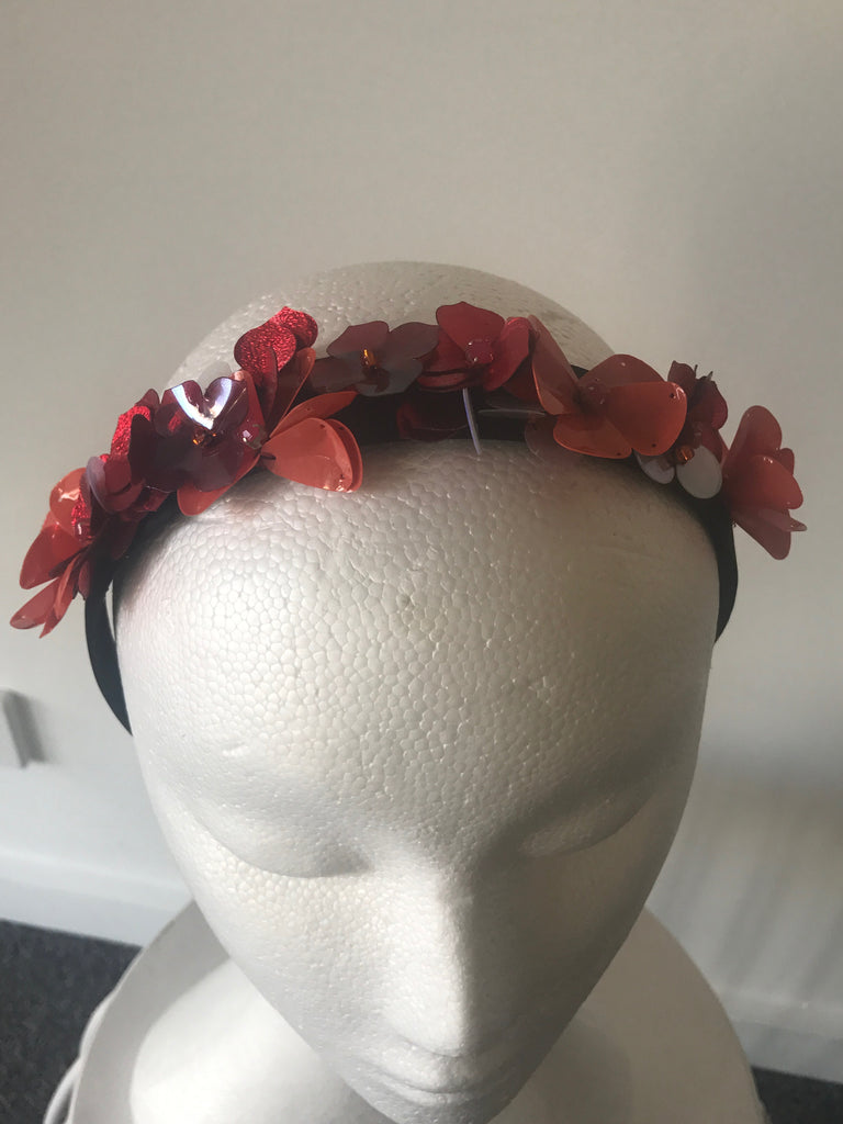Jill & Jack Bead & Sequin Flowers - Red