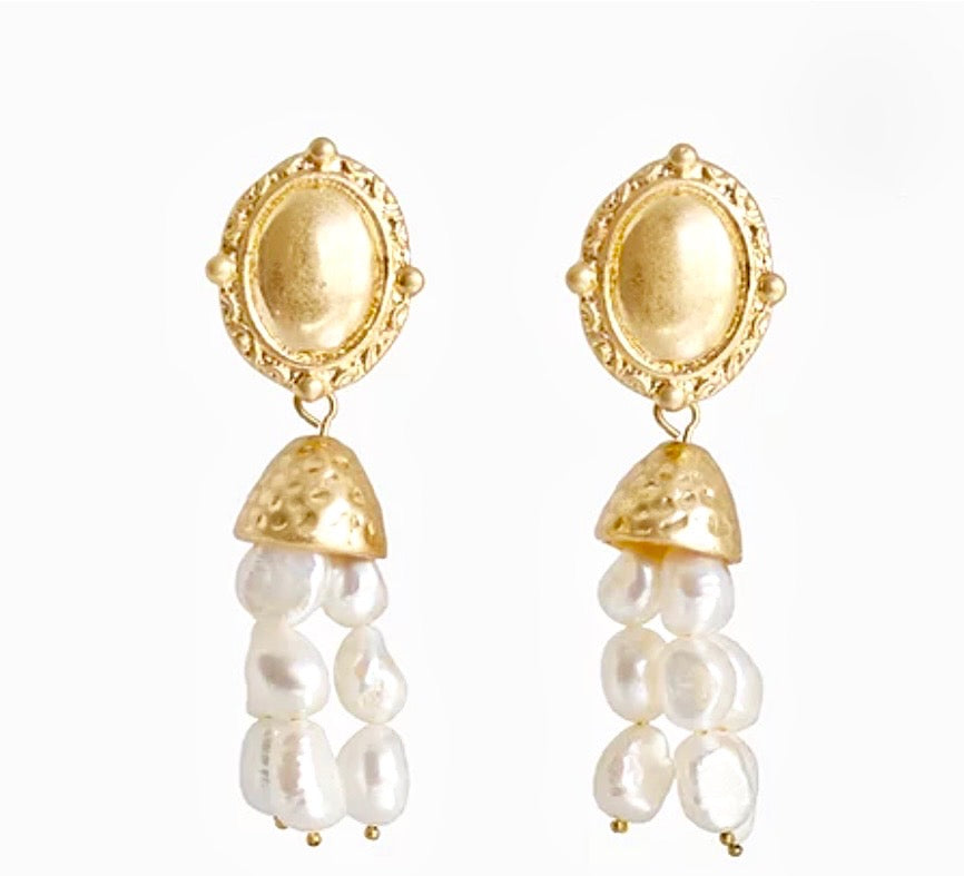 Bling Bar Agnes Pearl Earrings
