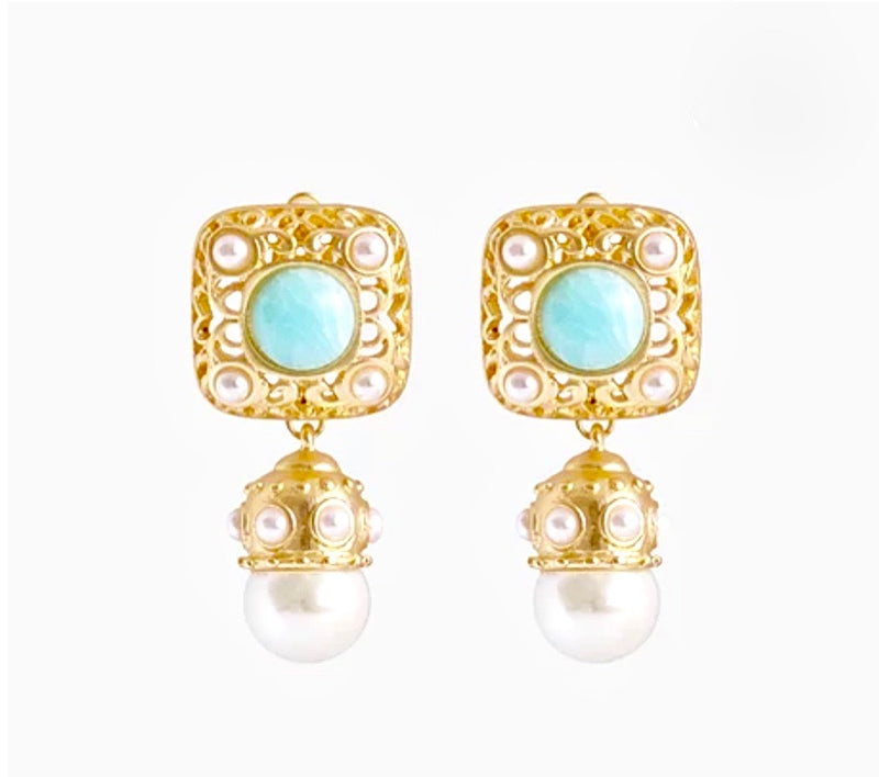 Bling Bar Ariel Pearl Earrings