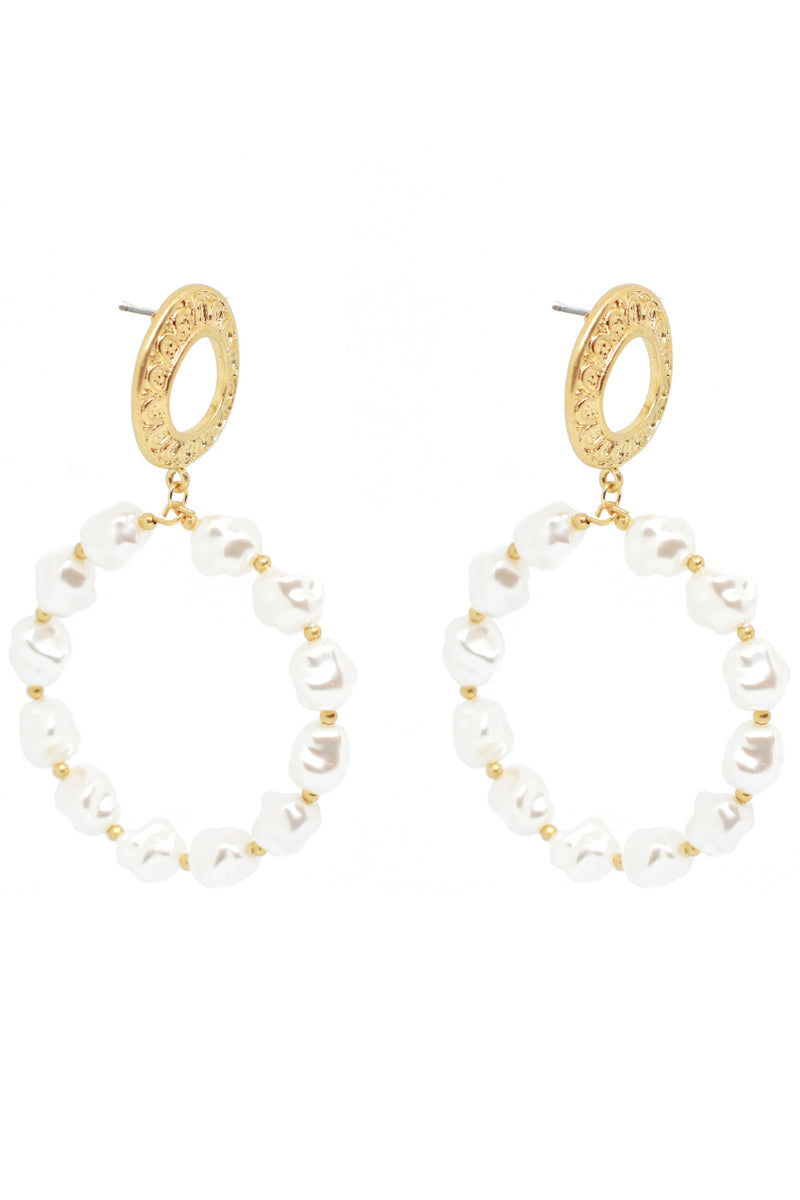 Bling Bar Elissa Pearl Hoops