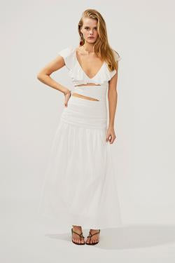 Suboo Alva Rouched Cut Out Maxi Dress - Ivory