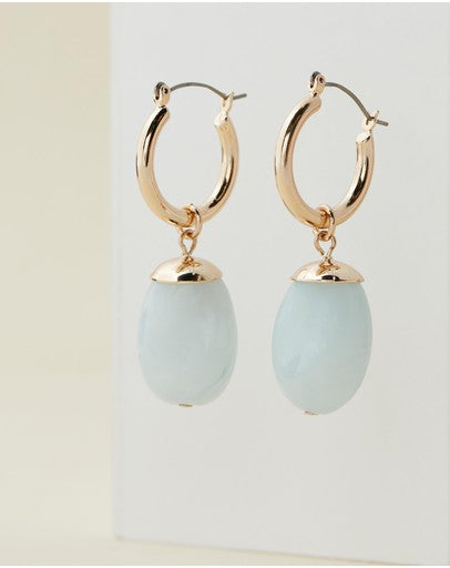 Bling Bar Serafina Earrings - Azzurro Blu