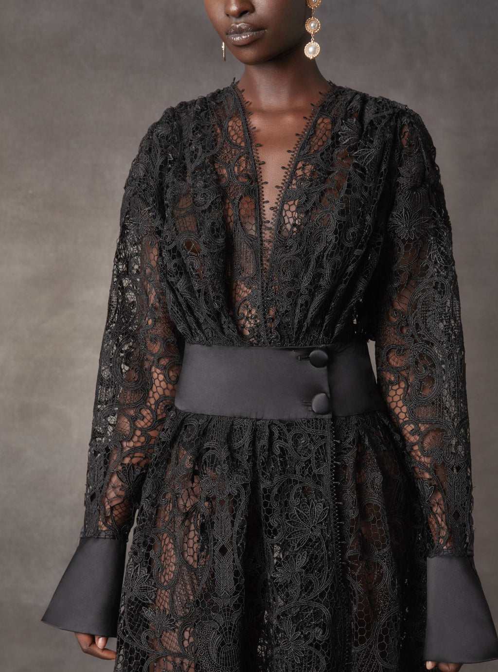Leo & Lin Juno Black Lace Dress