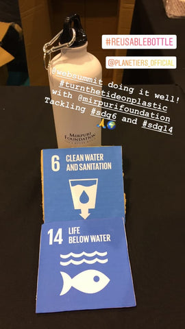Reusable Water Bottle - Mirpuri Foundation - WebSummit - SDG6 & SDG14