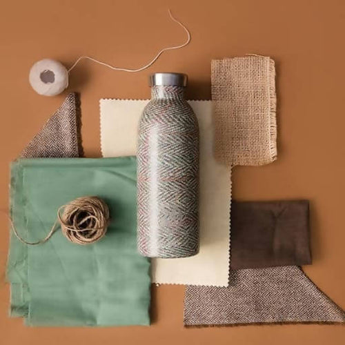 Garrafa Reutilizável Weave Collection by 24Bottles - Clima Bottle Herringbone