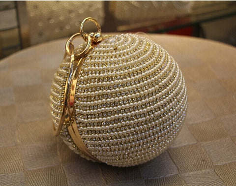 Round Ball Wrist Bag Clutch Purse