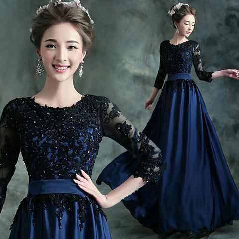 Formal Lace Evening Gown