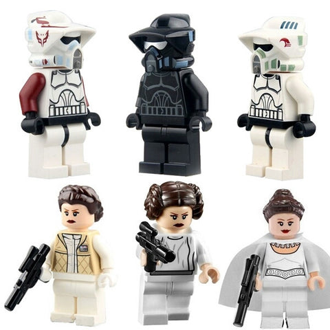 6pcs Star Wars Minifigures Princess Leia Collection