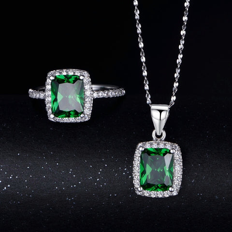 Natural Emerald Ring And Pendant