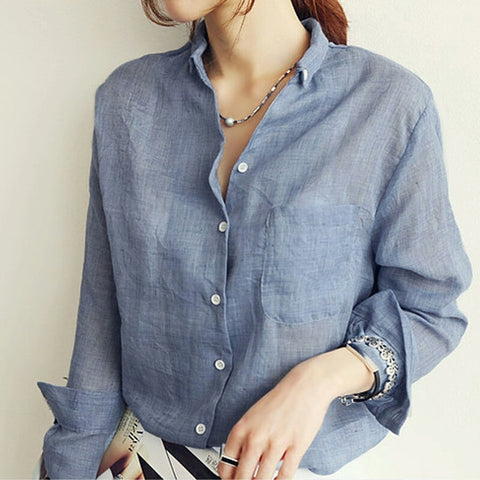 Casual Linen Blouse