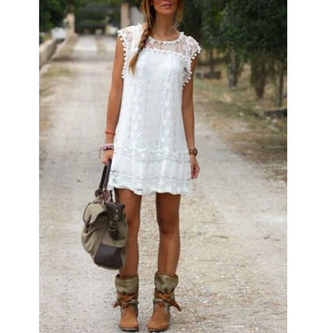 Casual Slim Lace Dress