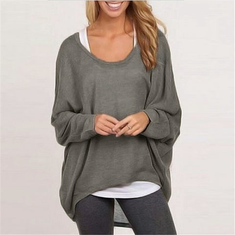 Batwing O Neck Casual Sweater