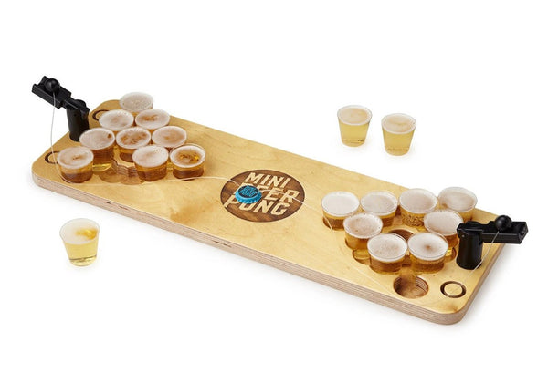 Handcrafted Mini Beer Pong Deluxe set - Made in Minnesota by Scienz