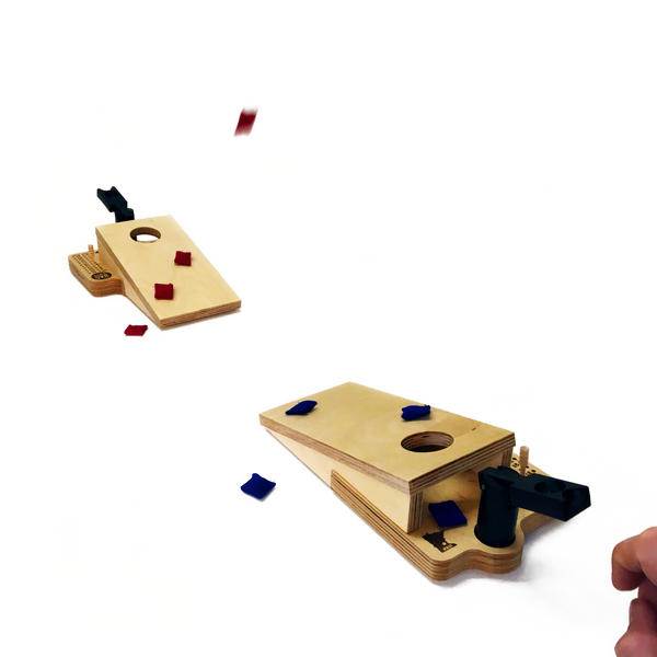 Mini Tabletop  Desktop Bean Bag Toss Cornhole Game with Catapults