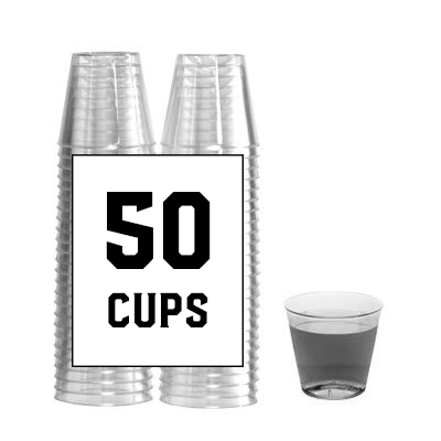 Extra Mini Beer Pong Cups - 1 Pack of 50 Cups