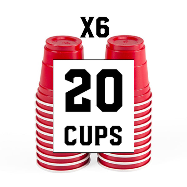 6 Pack of Red 2 oz Cups