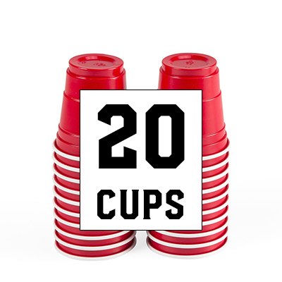 20 pack of mini flip cup cups