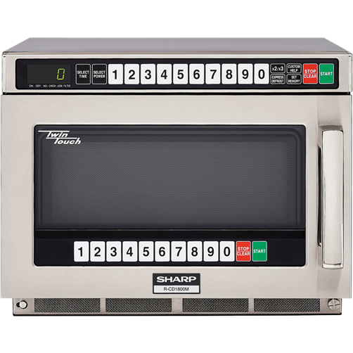 Sharp R-CD1800M Heavy Duty TwinTouch Commercial Kitchen Microwave Oven with 1800 Watts - AT Faucet
