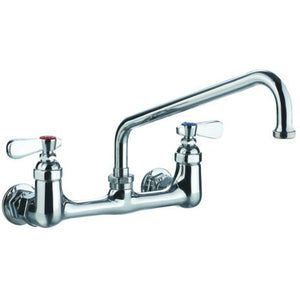 "AT Faucet 8"" Center Wall-Mount Faucet with 12"" Spout Platinum Series - AT Faucet"