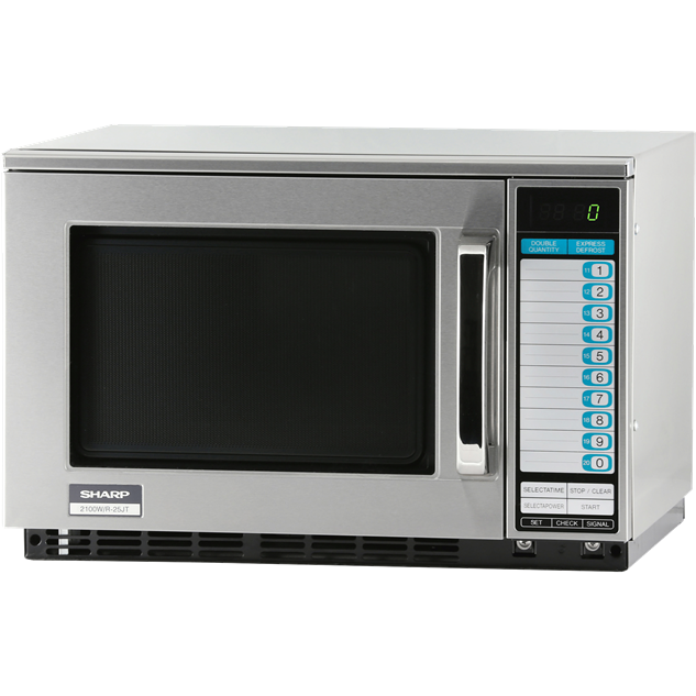 Sharp R-25JTF Heavy Duty Commercial Kitchen Microwave Oven with 2100 Watts - AT Faucet