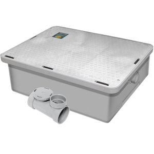 Commercial Kitchen Endura Low Profile Grease Trap 50 lb 25 G.P.M. - AT Faucet